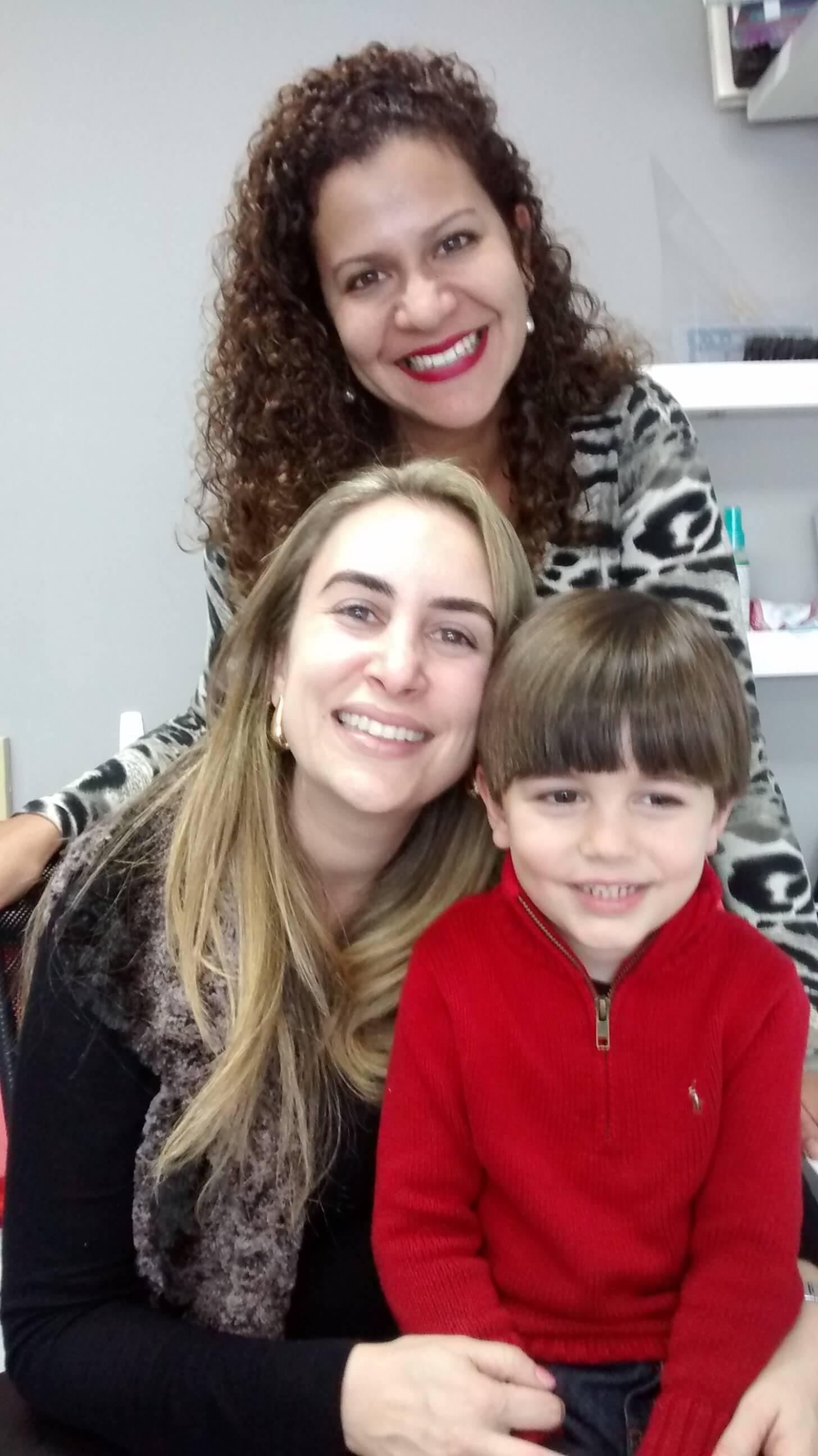 Gabriela Vergara, Tais Torezan e seu filho Lucca.