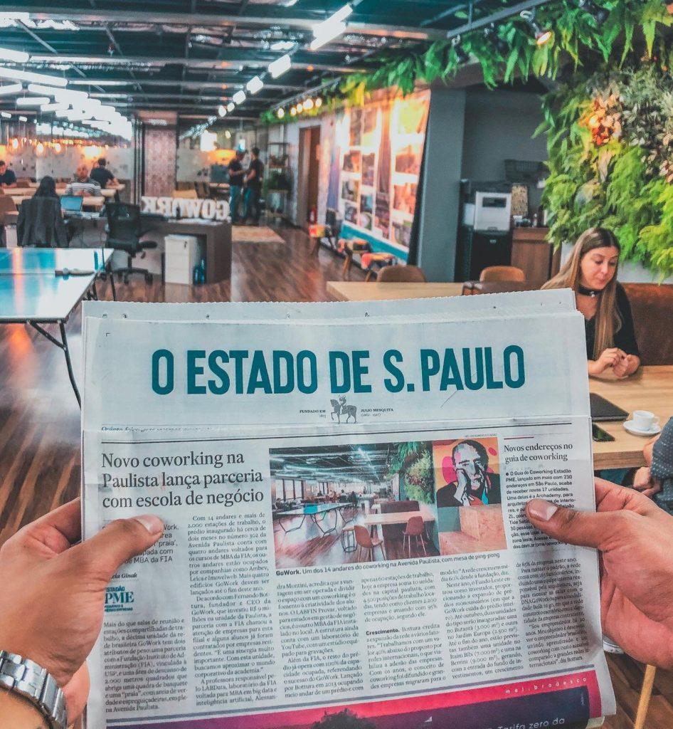 Gowork no Jornal Estado de São Paulo