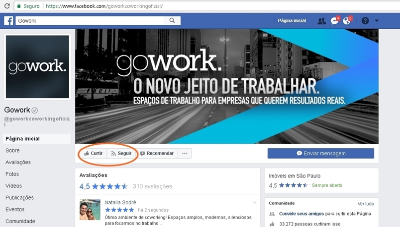 gowork facebook plano de referencia